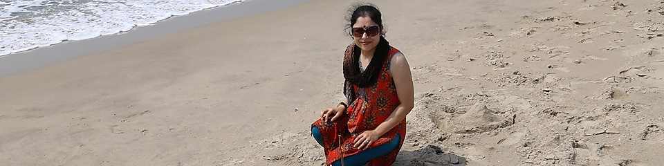 Doorva Shukla on the beach