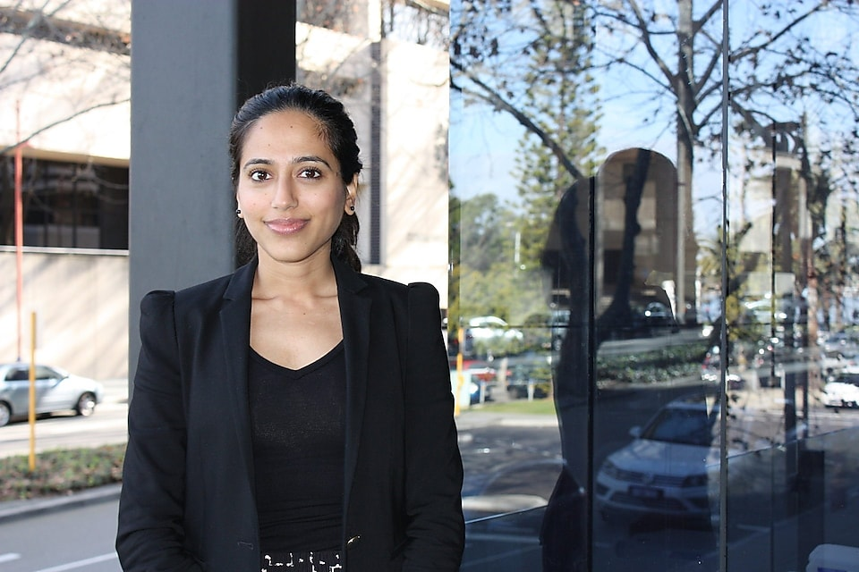 Nandini Pereira outside the Shell Australia office