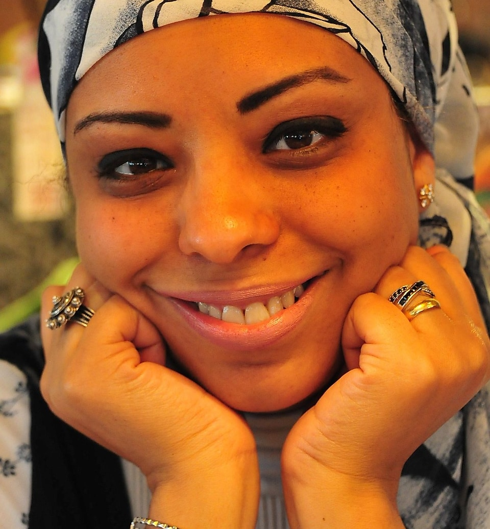 Close up portrait of Marwa Al-Ansary