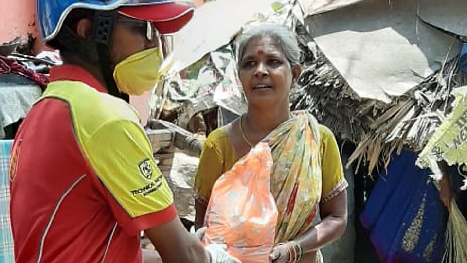Relief kits being distributed in Vizag