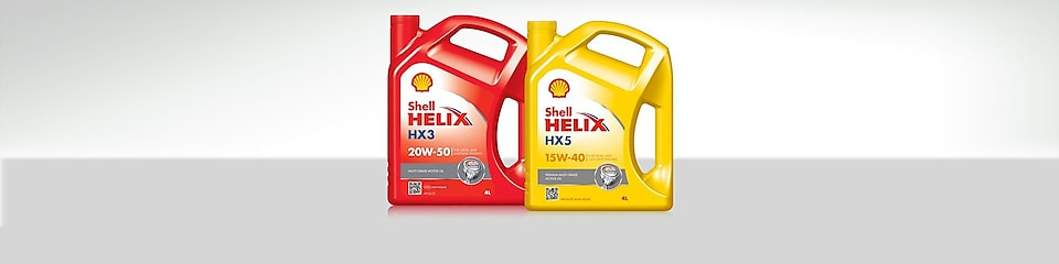 Two bottle of Shell Helix Mineral Motor Oils