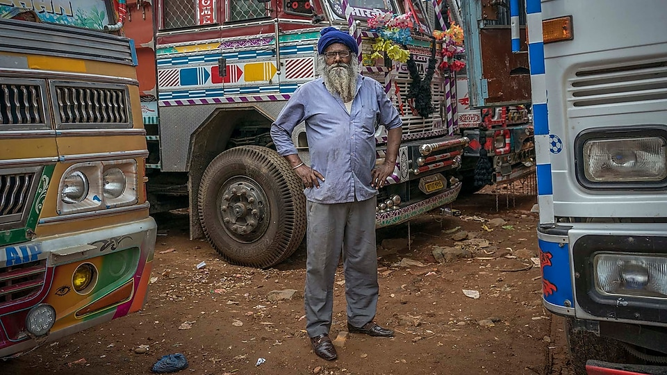 Nirmal Singh's work means he drives thousands of miles transporting goods such as apples and milk